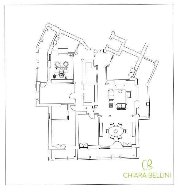 Come unire due appartamenti - seconda soluzione progettuale