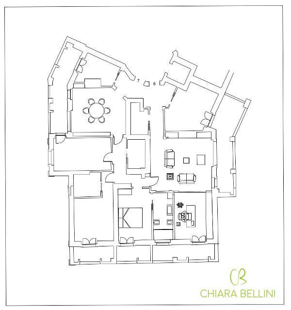 Come unire due appartamenti - terzasoluzione progettuale