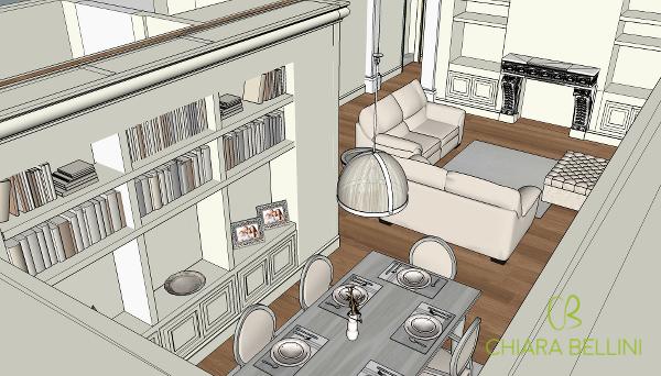 Unire due appartamenti per ricavare un living open-space