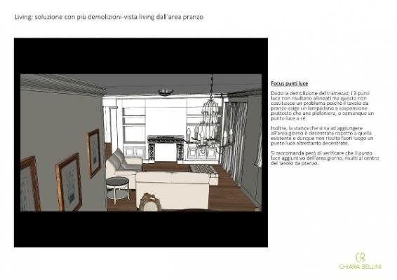 Progetto unione di due appartamenti