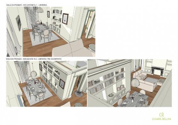 Unione appartamenti: living open space per dar respiro a una casa frammentata