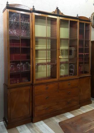 Mobile vecchio: libreria in stile inglese di fine ottocento, Baggi Antichità