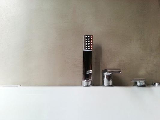 Bagno in cemento. mobile bagno lavabo pietra cast posto di bagno