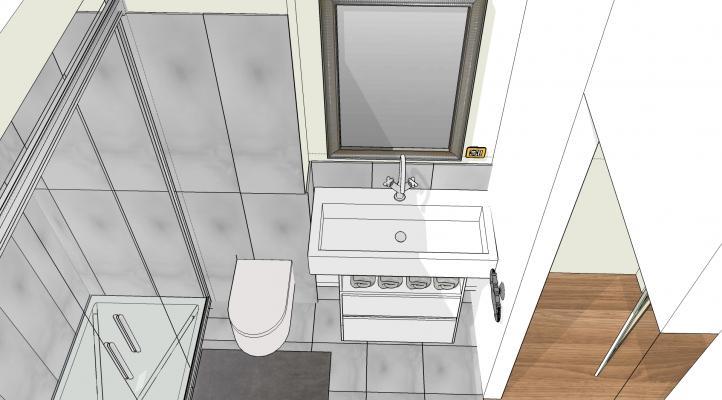 Creare un'ampia doccia con la finestra interna