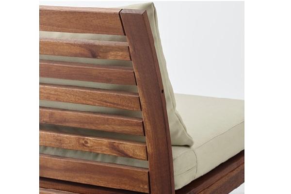Dettaglio della poltrona angolare Applaro di Ikea