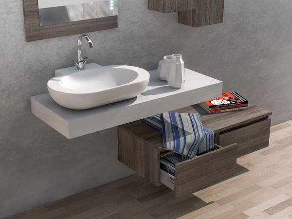 Mobili da bagno con top in legno - Mobili bagno legno massiccio ...