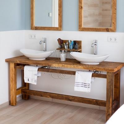 Mobili bagno in legno massello - Falegnameria '900