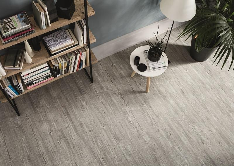 Pavimento effetto legno larix white