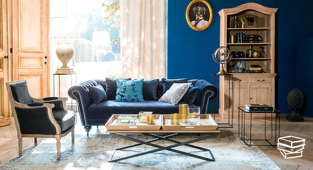 Mix di stili nel living, da Maisons du Monde