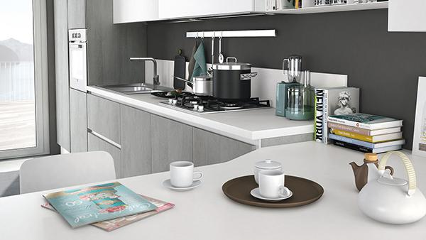 Cucine Lube con top in laminato