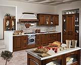 Cucina stosa con top in marmo
