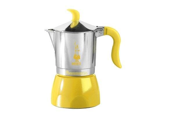 Macchinetta del caffè colorata Fiammetta Summer gialla di Bialetti