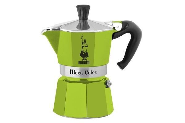 Caffettiera Moka Color verde di Bialetti