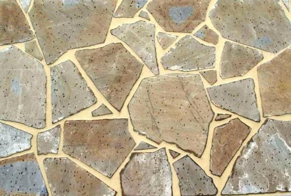 Impremar pavimentazione con lastre di arenaria a spacco