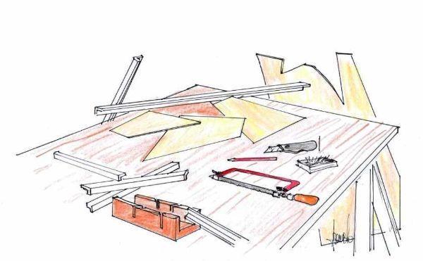 Preparazione sagome per vetri da applicare al pannello decorativo