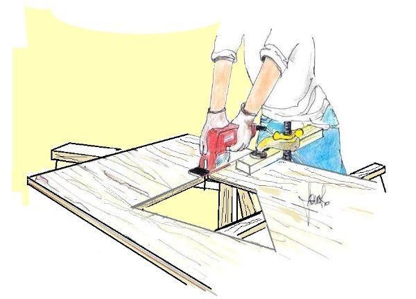 Pannello da rivestimento: taglio sagome su disegno