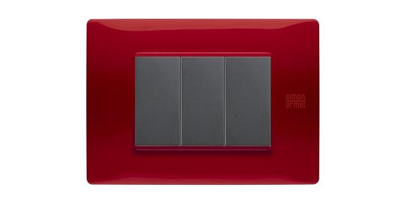 Placca elettrica Simon Urmet Nea Flexa rossa