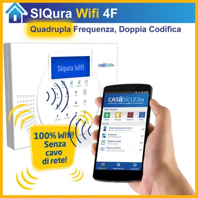 Allarme SIQuRA Wifi, la nuova centrale a 4 frequenze