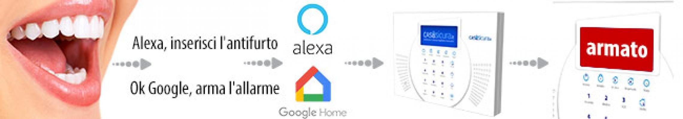 SIQuRA Wifi controllo vocale con il dispositivo Alexa e Google Home