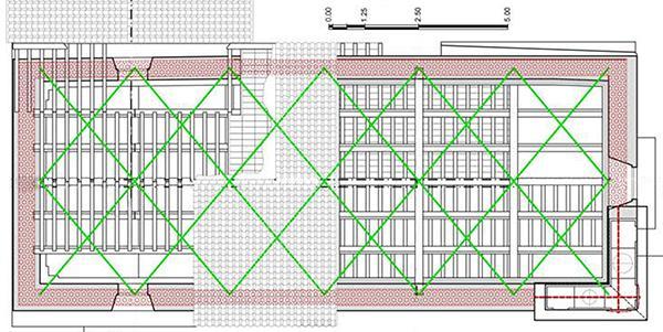 Miglioramento sismico con cordolo in muratura armata, progetto arch. Elena Matteuzzi