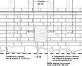 Cordolo in muratura armata e collegamenti con la copertura, vista frontale, progetto Elena Matteuzzi