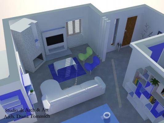 Progetto soggiorno contemporaneo