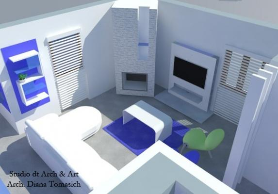 Restyling soggiorno in chiave moderna