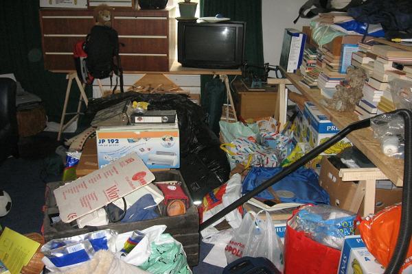 Disordine e cattiva organizzazione degli spazi