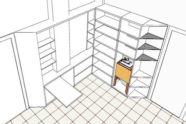 Spazio razionale: contenitore progettato studio volumetrico