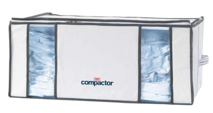 Spazio in casa da organizzare: custodia salvaspazio compactor