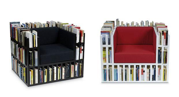 Bibliochasise, poltrona e libreria insieme, da Nobody&co