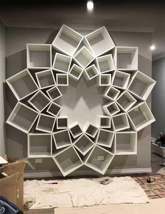 Libreria fai da te mandala, da jessandsinclairfortheblock