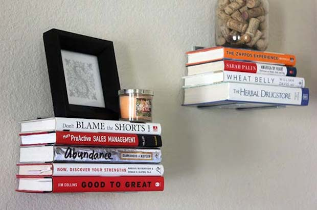 Libri al posto delle mensole, nhblog.com