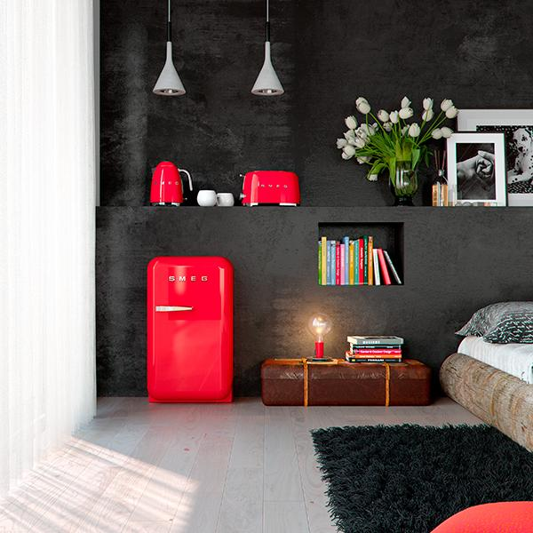 frigoriferi colorati per una casa di tendenza. Black Bedroom Furniture Sets. Home Design Ideas