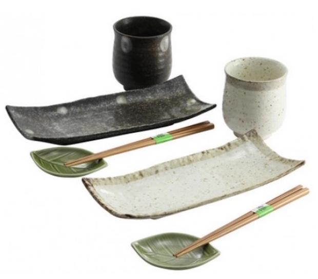 Set sushi tavola, da artigianatogiapponese.it