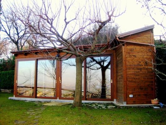 Casetta abitabile da giardino, realizzazione Techlegno