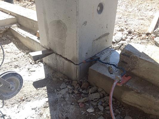 Condoni edilizi in zona sismica: taglio pilastro Tecnodiamante srl