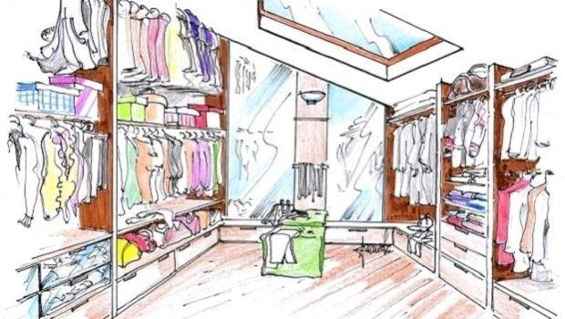 Cabina armadio in mansarda: due funzionali idee di progetto