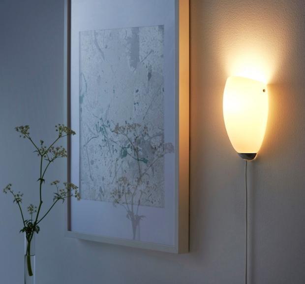 Luce indiretta a parete, da Ikea