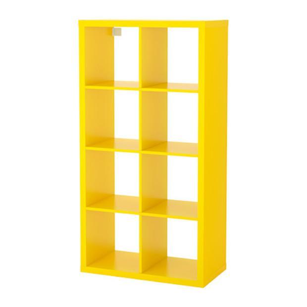 Scaffale giallo per arredare l'ufficio, da Ikea