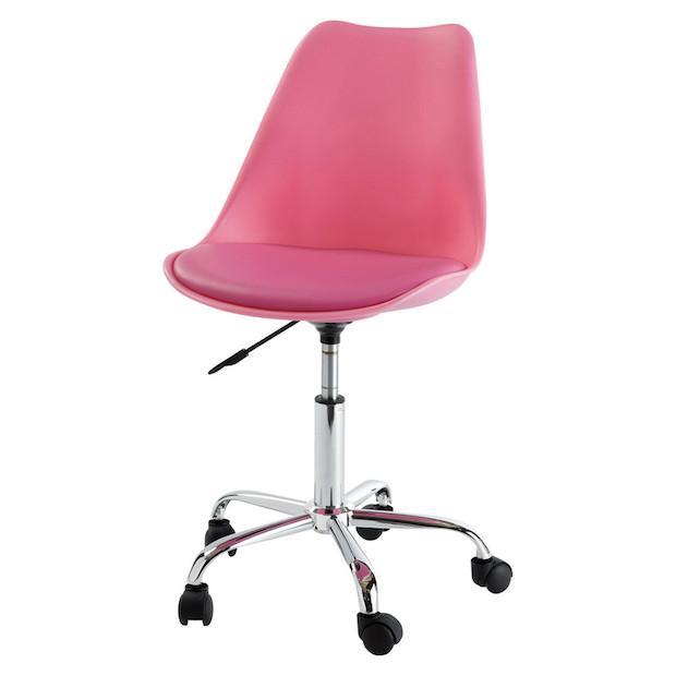 Sedia da scrivania rosa, da Maisons du Mond