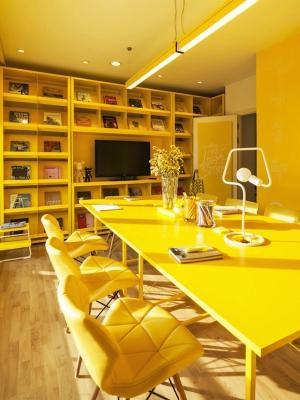 Il giallo è il colore della positività, da nfgraphics.com