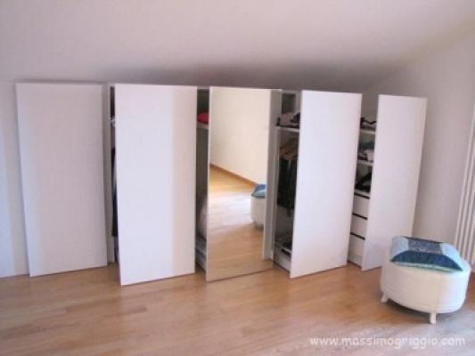 Costruire un armadio a muro in mansarda