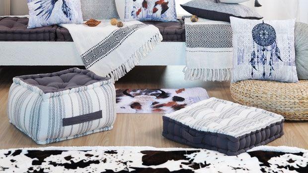 Cuscini da pavimento per un angolo di relax indoor e outdoor