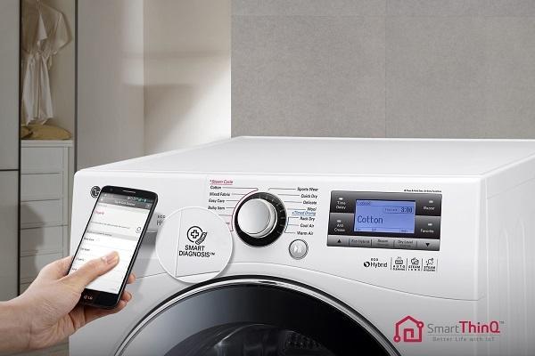 Dettagllio dell'asciugatrice Eco Hybrid Lg
