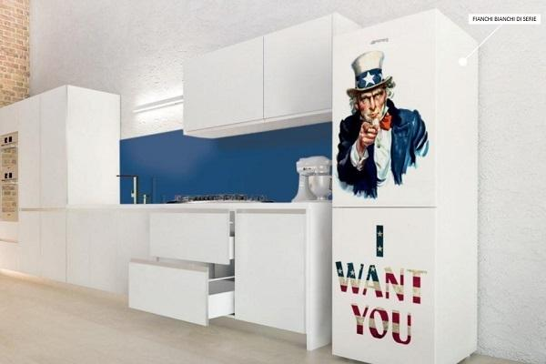 Frigo personalizzato I want you Coolors