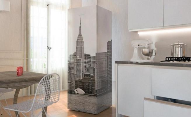 Frigo personalizzato NY Day Coolors