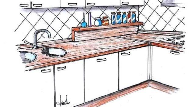 Tagliare Piano Lavoro Cucina Ikea.Come Installare Un Piano Di Lavoro Cucina