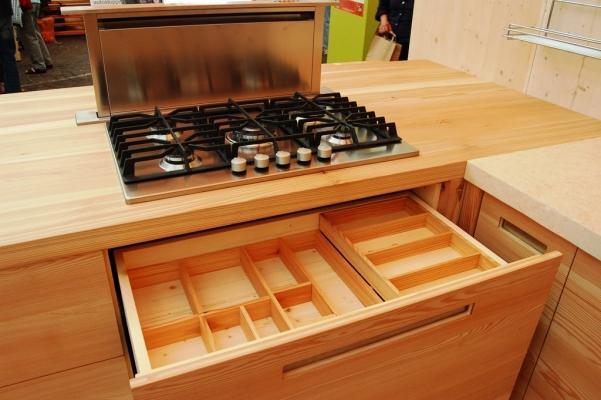 Top da cucina in legno, di Falegnameria Madera