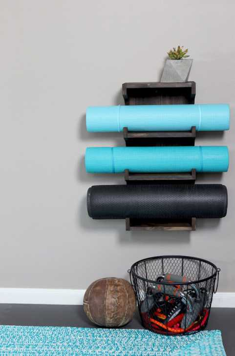 Porta tappetini palestra fai da te, da grayhousestudio.com